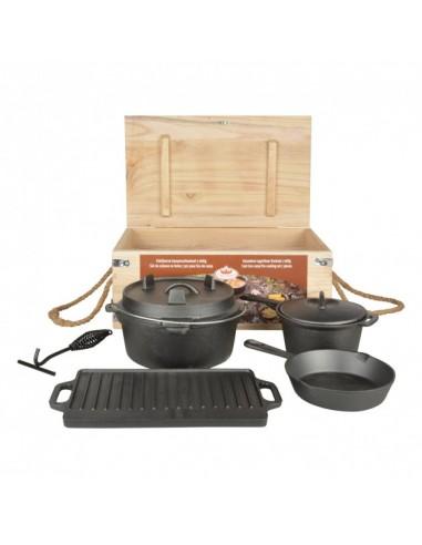OFYR Set de casseroles en fonte 21-26