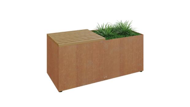 banc herbe marron