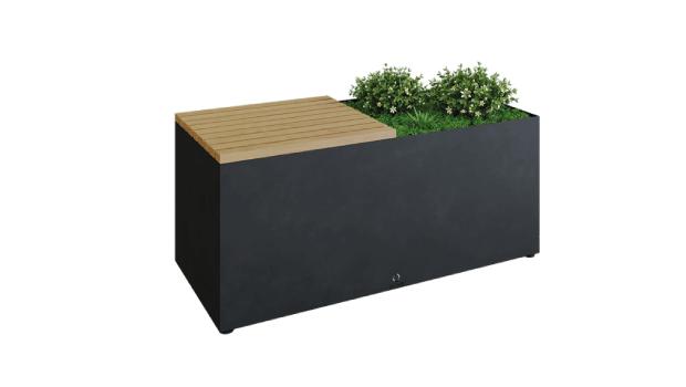 banc herbe noir
